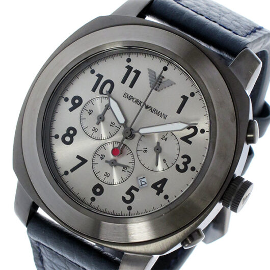 エンポリオ アルマーニ EMPORIO ARMANI クオーツ クロノ メンズ 腕時計 AR6086 ガンメタ ガンメタ