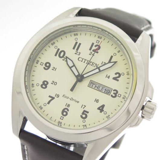 シチズン CITIZEN  エコ・ドライブ Eco-Drive クオーツ メンズ 腕時計 AW0050-15A アイボリー/ブラウン アイボリー