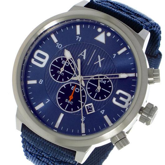 アルマーニエクスチェンジ ARMANI EXCHANGE クロノ クオーツ メンズ 腕時計 AX1373 ネイビー ネイビー