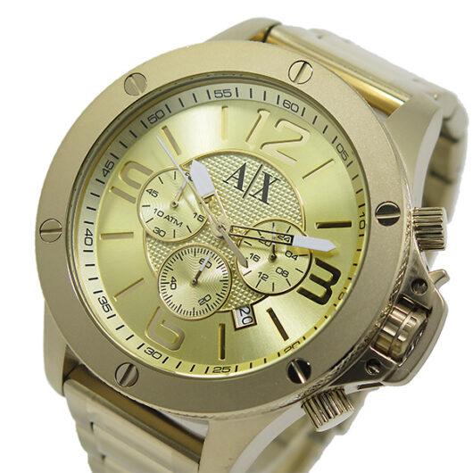 アルマーニ エクスチェンジ クオーツ クロノ メンズ 腕時計 AX1504 ゴールド ゴールド