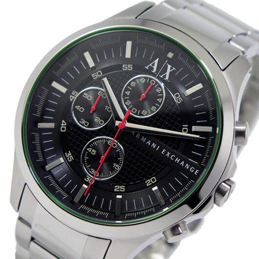 アルマーニ エクスチェンジ クオーツ クロノ メンズ 腕時計 AX2163 ブラック ブラック