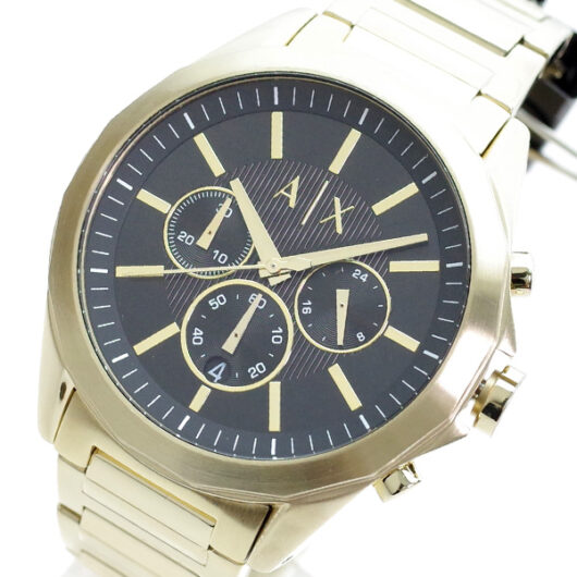 アルマーニエクスチェンジ ARMANI EXCHANGE 腕時計 メンズ AX2611 クォーツ ブラック ゴールド