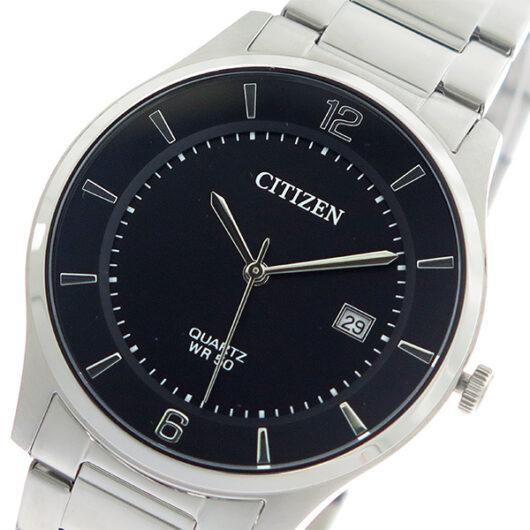 シチズン CITIZEN  クオーツ メンズ 腕時計 BD0041-89E ブラック/シルバー ブラック