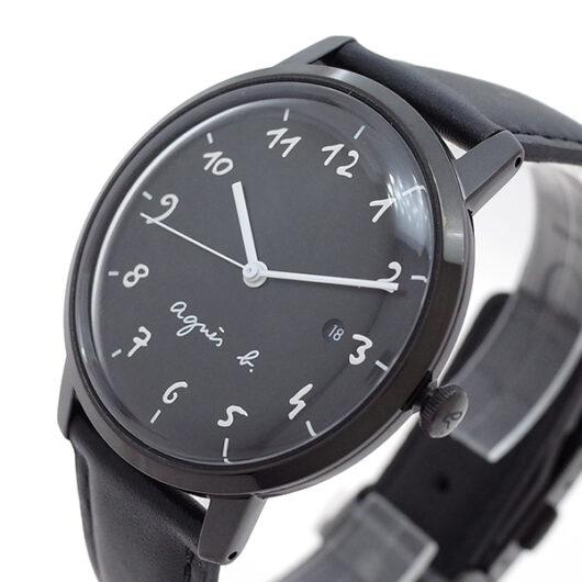 アニエスベー AGNS B 腕時計 メンズ BG8009X1 クォーツ ブラック