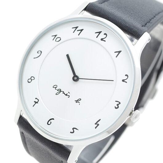 アニエスベー AGNS B 腕時計 メンズ BJ5004X1 クォーツ ホワイト ブラック