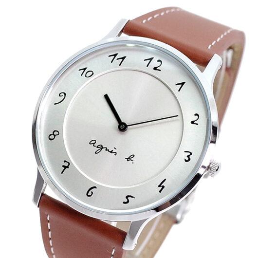 アニエスベー AGNS B 腕時計 メンズ BJ5006X1 クォーツ シルバー ブラウン