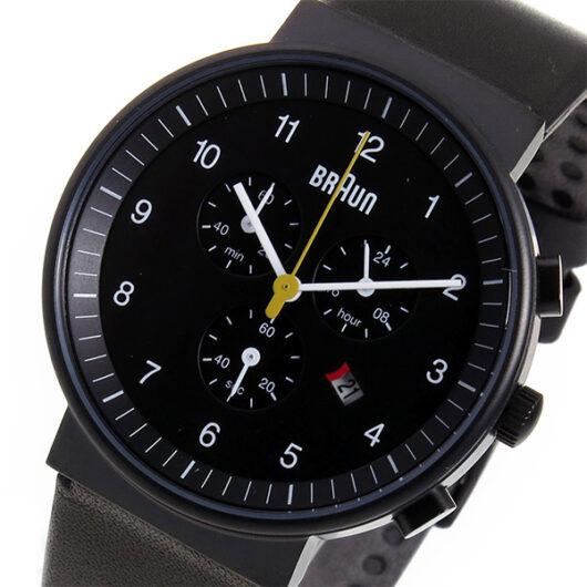 ブラウン BRAUN クロノ クオーツ メンズ 腕時計 BN0035BKBKG ブラック ブラック