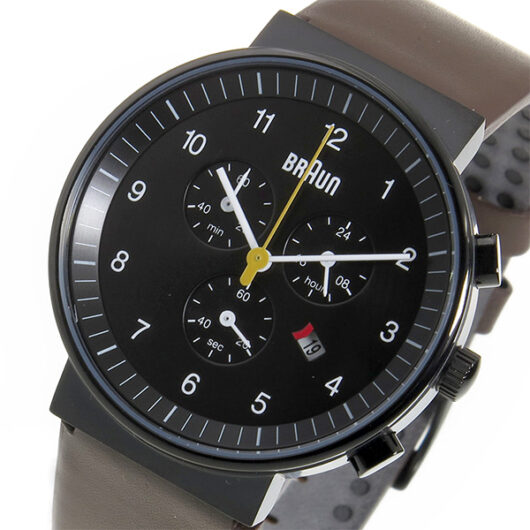 ブラウン BRAUN クロノ クオーツ メンズ 腕時計 BN0035BKBRG ブラック ブラック