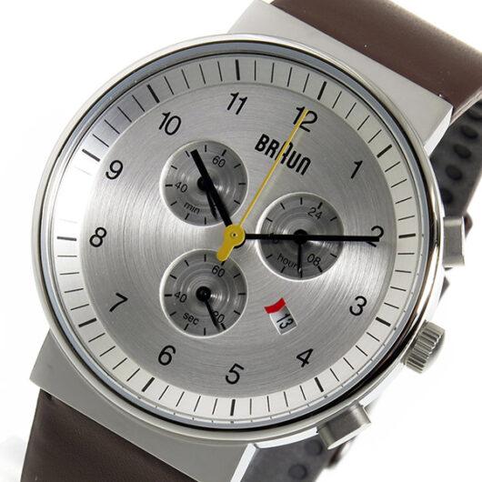 ブラウン BRAUN クロノ クオーツ メンズ 腕時計 BN0035SLBRG シルバー シルバー
