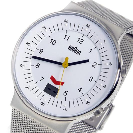 ブラウン BRAUN クオーツ メンズ 腕時計 BN0087WHSLMHG ホワイト ホワイト