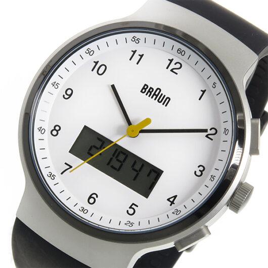 ブラウン BRAUN クオーツ メンズ 腕時計 BN0159WHBKG ホワイト ホワイト
