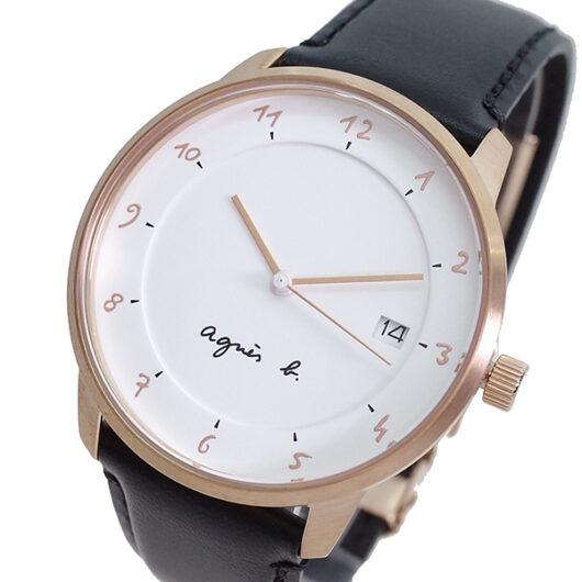 アニエスベー AGNS B 腕時計 メンズ BS9001J1 クォーツ ホワイト ブラック