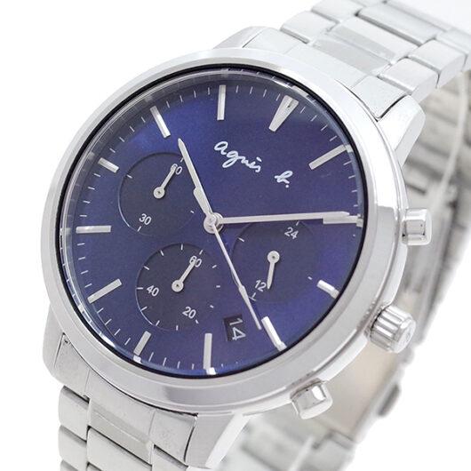アニエスベー AGNS B 腕時計 メンズ BT3034X1 クォーツ ネイビー シルバー