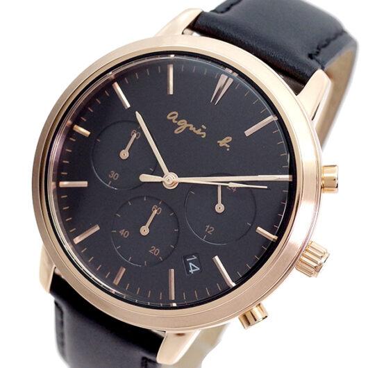 アニエスベー AGNS B 腕時計 メンズ BT3038X1 クォーツ ネイビー ブラック