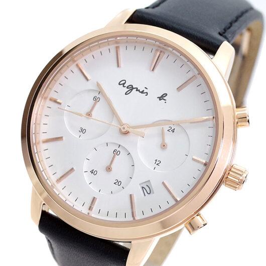 アニエスベー AGNS B 腕時計 メンズ BT3039X1 クォーツ ホワイト ブラック