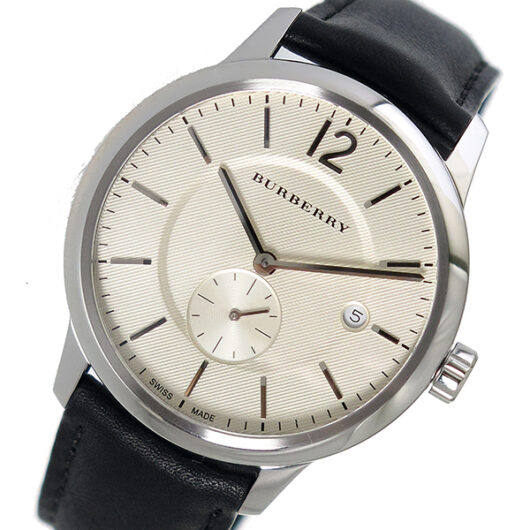 バーバリー BURBERRY ザ クラシックラウンド クオーツ メンズ 腕時計 BU10000 アイボリー アイボリー
