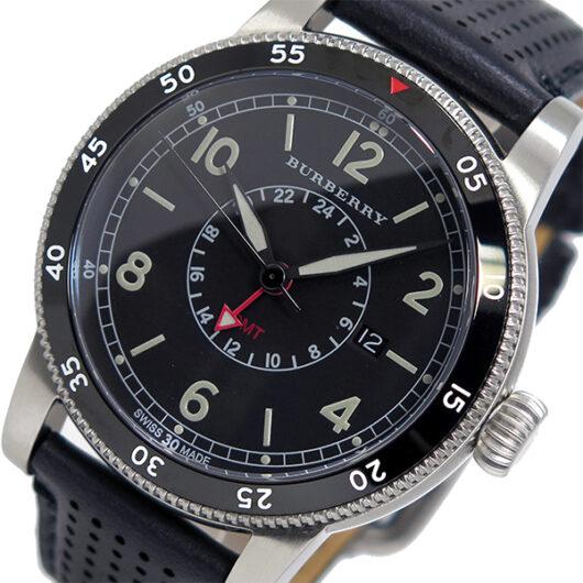 バーバリー BURBERRY ユティリタリアン クオーツ メンズ 腕時計 BU7854 ブラック ブラック