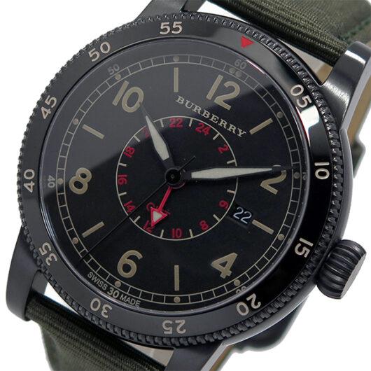 バーバリー BURBERRY ユティリタリアン クオーツ メンズ 腕時計 BU7855 ブラック ブラック