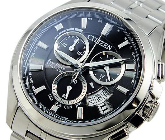 シチズン CITIZEN エコドライブ クロノグラフ 腕時計 BY0051-55E ブラック