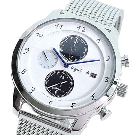 アニエスベー AGNS B 腕時計 メンズ BY6006P1 クォーツ ホワイト シルバー