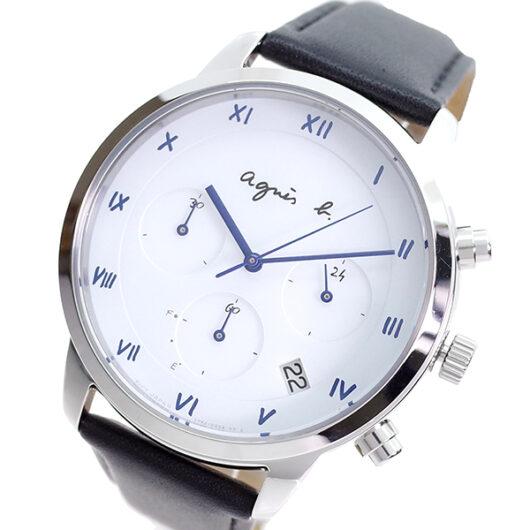 アニエスベー AGNS B 腕時計 メンズ BZ5001P1 クォーツ ホワイト ブラック