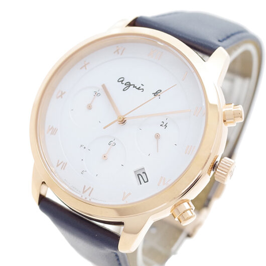 アニエスベー AGNS B 腕時計 メンズ BZ5003P1 クォーツ ホワイト ネイビー