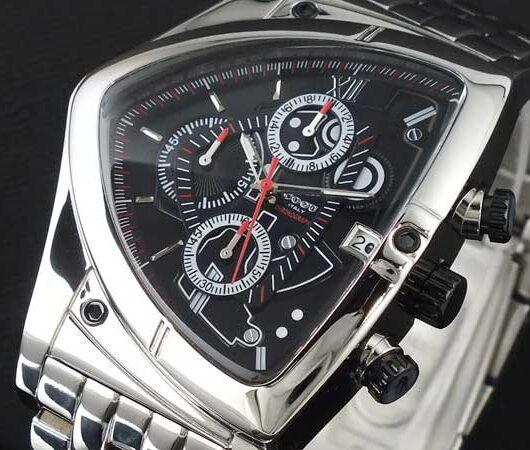 コグ COGU アシンメトリー クロノグラフ 腕時計 メタルベルト C43M-BK ブラック ブラック