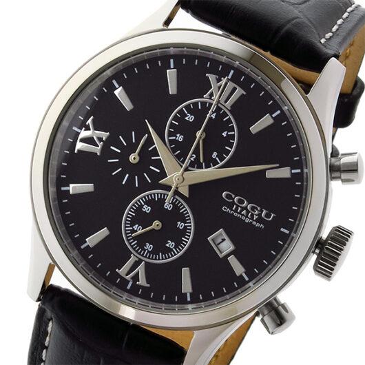 コグ COGU クオーツ クロノ メンズ 腕時計 C65-BK ブラック ブラック