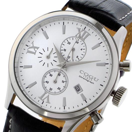 コグ COGU クオーツ クロノ メンズ 腕時計 C65-WH ホワイト ホワイト