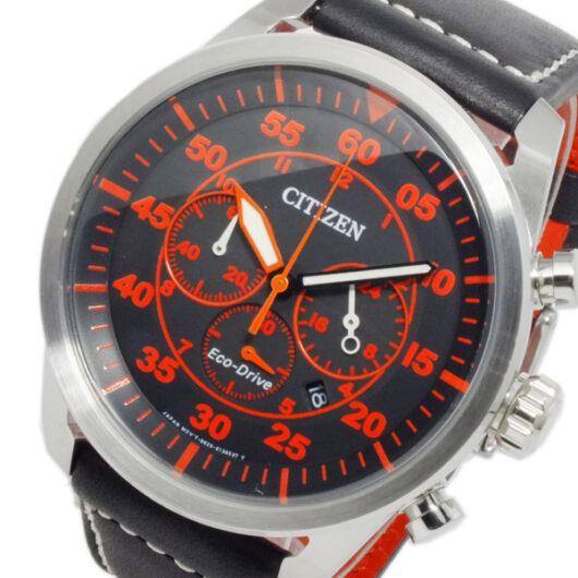 シチズン CITIZEN エコドライブ ソーラー メンズ クロノ 腕時計 CA4210-08E ブラック