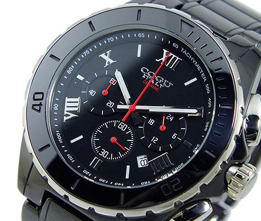 コグ COGU クロノグラフ メンズ 腕時計 CRM2-BBK ブラック