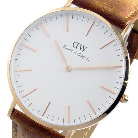ダニエル ウェリントン クラシック ダラム/ローズ 40mm 腕時計 DW00100109 ホワイト