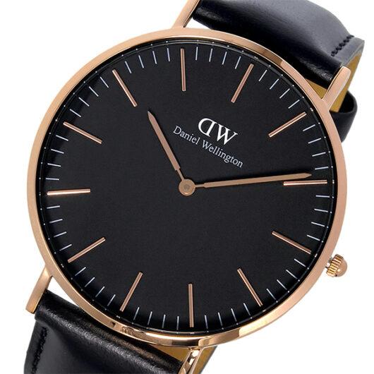 ダニエル ウェリントン クラシック シェフィールド/ローズ 40mm メンズ 腕時計 DW00100127 ブラック