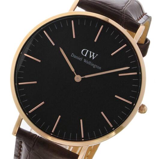 ダニエル ウェリントン クラシック ヨーク/ローズ 40mm メンズ 腕時計 DW00100128 ブラック