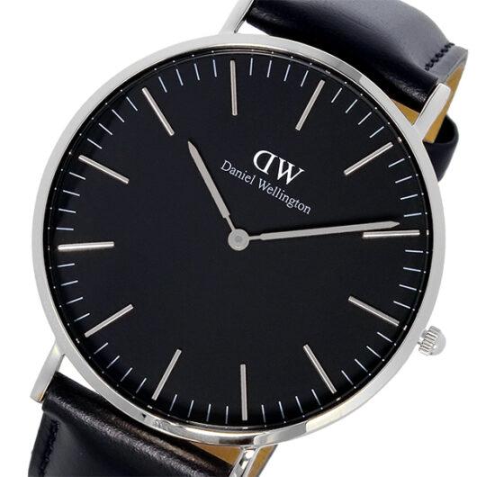 ダニエル ウェリントン クラシック シェフィールド/シルバー 40mm メンズ 腕時計 DW00100133 ブラック