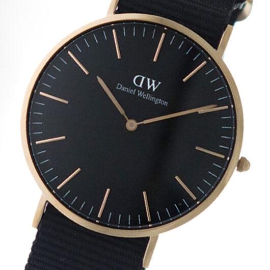 ダニエル ウェリントン クラシック コーンウォール/ローズ 40mm メンズ 腕時計 DW00100148 ブラック
