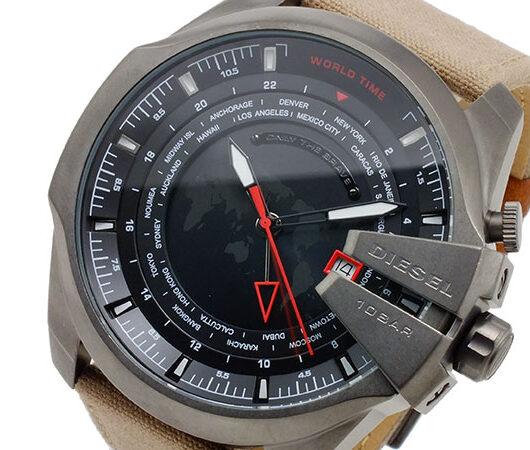ディーゼル DIESEL クオーツ メンズ ワールドタイム 腕時計 DZ4306 ブラック
