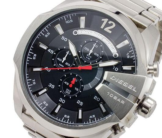 ディーゼル DIESEL クオーツ メンズ クロノ 腕時計 DZ4308 ブラック ブラック