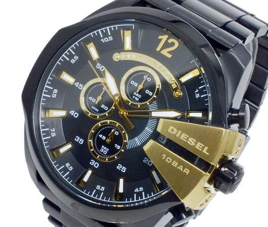 ディーゼル DIESEL クオーツ メンズ クロノ 腕時計 DZ4338 ブラック ブラック