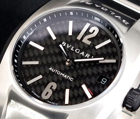 ブルガリ BVLGARI エルゴン 自動巻き EG35BSVD 腕時計 ブラック