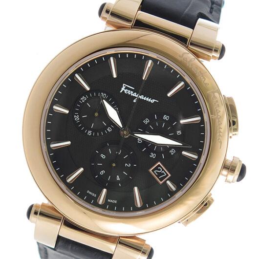 サルヴァトーレ フェラガモ クロノ クオーツ メンズ 腕時計 FCP060017 ブラック ブラック