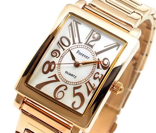 フォーエバー FOREVER メンズ 腕時計 FG-710-1 ホワイト ホワイトシェル