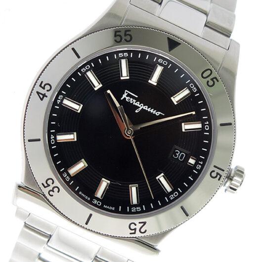 サルヴァトーレ フェラガモ クオーツ メンズ 腕時計 FH1030017 ブラック ブラック