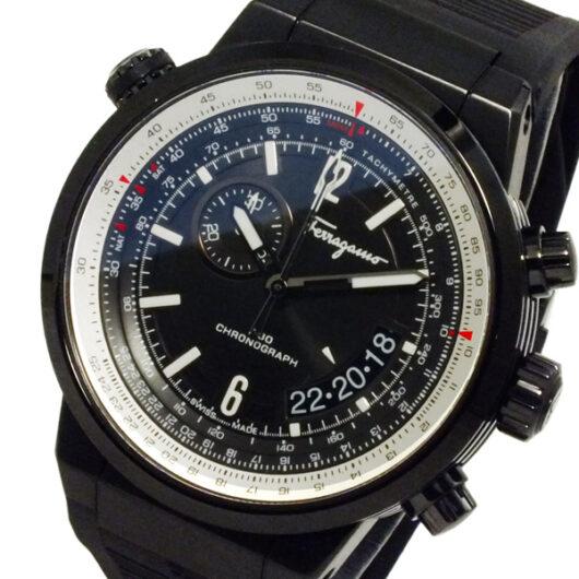 サルヴァトーレ フェラガモ FERRAGAMO メンズ クロノ 腕時計 FQ202-0013 ブラック