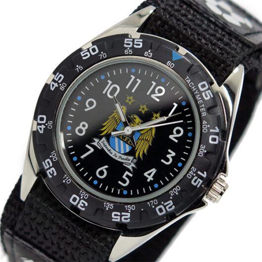 フットボールウォッチ マンチェスターシティ クオーツ メンズ 腕時計 GA3759 ブラック