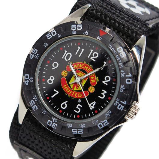 フットボールウォッチ マンチェスターユナイテッド クオーツ メンズ 腕時計 GA3768 ブラック