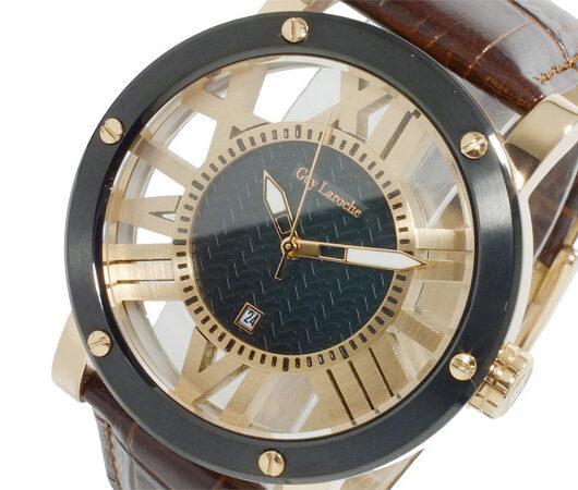 ギ・ラロッシュ Guy Laroche クオーツ メンズ 腕時計 GS1401-05 ブラック