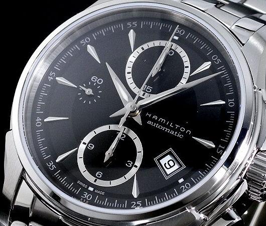 ハミルトン HAMILTON ジャズマスター オートクロノ 自動巻き 腕時計 H32616133 ブラック