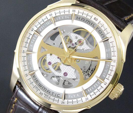 ハミルトン HAMILTON ジャズマスター 自動巻 スケルトン メンズ 腕時計 H42545551 ホワイト
