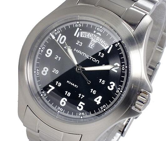 ハミルトン HAMILTON カーキキング KHAKI KING クオーツ メンズ 腕時計 H64451133 ブラック